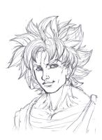 Super Sayin Goku by obi1knobi