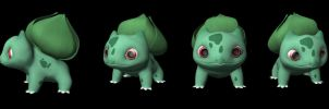 Bulbasaur Model by lesliesketch