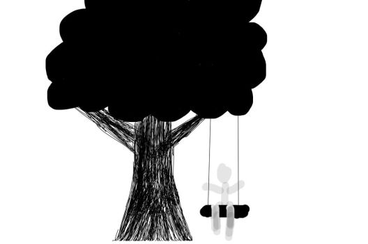 Stick Figure Memories: childhood trees by Warbrony111