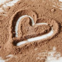 Heart with chocolate by AmandineRopars