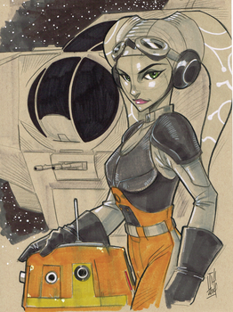 Hera Syndulla and Chopper from Star Wars Rebels by Hodges-Art