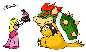 Peach's Cake to Bowser by Lwiis64