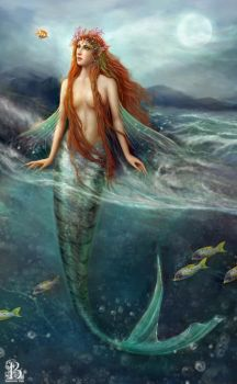 Mermaid of the Coral Sea by BrookeGillette