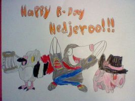 Happy B-day Hedjeroo by nintendolover2010
