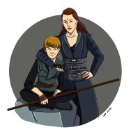 Lexa and Aden by alternativejunkie