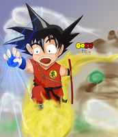 Kid Goku- Time to Fly by Xetak6
