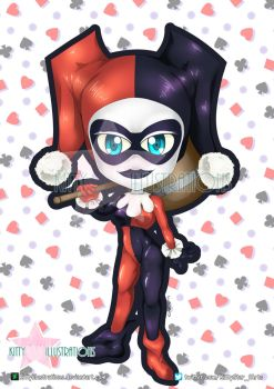 Chibi harley by Kittyillustrations