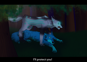 I'll Protect You by Panda-child
