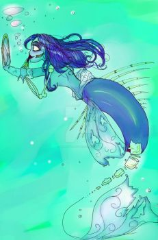 The Corpse Bride Mermaid by SilverTallest