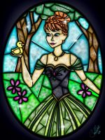 Stained Glass Anna by CallieClara