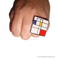 Mondrian cube ring by jewelryandstuff