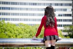 Rin Tohsaka Cosplay: Overlooking the City by HatterSisters