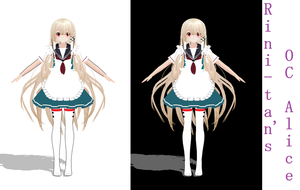 [MMD] OC Alice WIP(3) by Asa-Chi