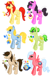 Free Pony Adopts 2 ALL TAKEN by iFerneh