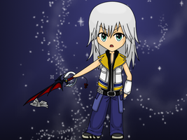 Riku with Keyblade by Tsubomi-No-Kimi