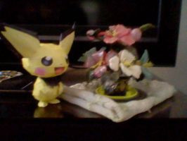 Spikey-Earred Pichu Papercraft by PrincessStacie