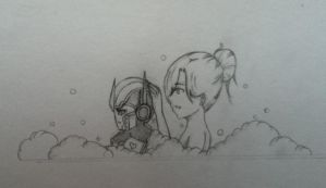 Chibi Optimus bubble bath by Lil-9