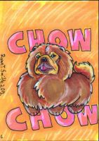 ACEO Dog 6: Chow Chow by ronnieraccoon