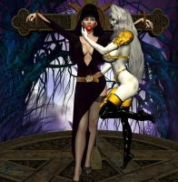 Lady Death Captures Elvira by Chup-at-Cabra