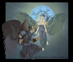 Gabriel and the Nephilim by sighthoundlady