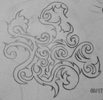 small tribal vine drawing by UndergroundTattoos