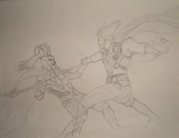 Be Hold The Power of Thor by DRAGONFLY010