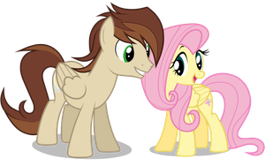 Gift: Rays and Fluttershy by JunkiesNewb