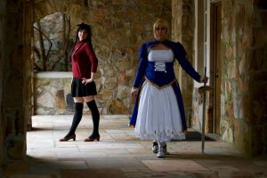 Saber and Rin Fate/Stay Night by ScissorWizardCosplay