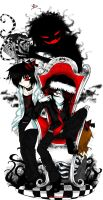 DM CE: Red and Black Christmas by Inconsistentworm