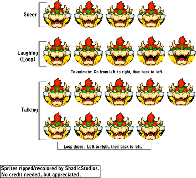 Bowser's Inside Story: Bowseritis Sprites by ShadicStudios