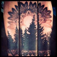 Trees and Mandala by Uken