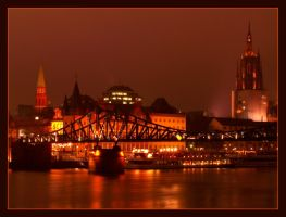 Frankfurt in the evening III by kine80