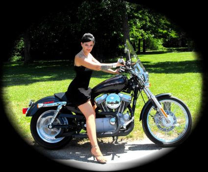 Hot Chick on a Harley by Lil-Mermaid
