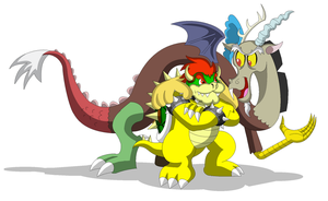 Bowser and Discord by Koopa-Master