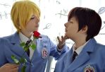 Tamaki and Haruhi - A rose by Millahwood