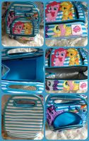 ( MLP ) Mane 6 Teal White Insulated Lunch Box by KrazyKari