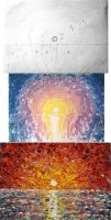 Impasto Sunset Step-by-Step by IvanRadev