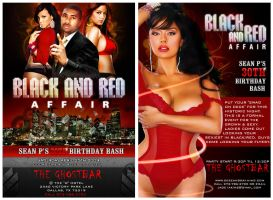 FLYER Ad: Black And Red Affair by preet618