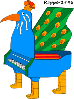 The Peacock Piano by Rapper1996