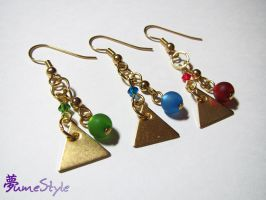 Goddess Triforce Earrings by Sarinilli