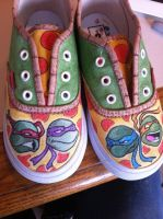 ninja turtle shoes by grizlyjerr