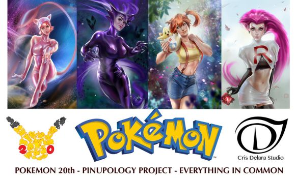 Pokemon20th Pinupology by CrisDelaraArt