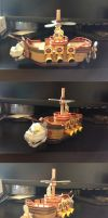 Baby Bowser spaceship papercraft by Sheharzad-Arshad