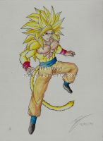 Son Goku Super Saiyan 4 (Dragon Ball New GT) by Renow54