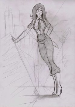 Hathaway skic pencil by LordMiste