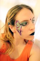 Butterfly Facepaint II by Della-Stock