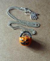 Trick or Treat Necklace by Amy221B