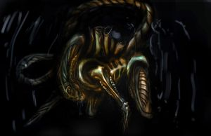 Giger's Alien Xenomorph by dtmccarson