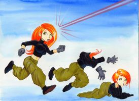 Kim Possible age regression by Shrink-a-Dink