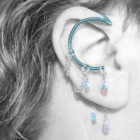 Crystal ab and Aqua ear wrap- SOLD by YouniquelyChic